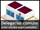 Delegacias comuns (com núcleo especializado)
