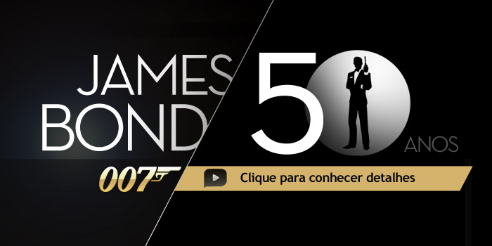 Acesse a infografia animada sobre os 50 anos de James Bond