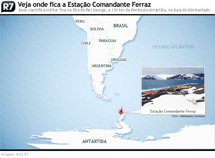 Veja onde fica a Estação Antártica Comandante Ferraz