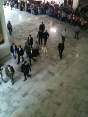 Madonna chega no Palácio