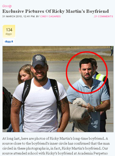 Ricky Martin com namorado