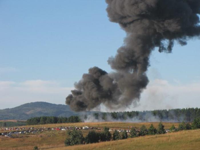 avião fumaça