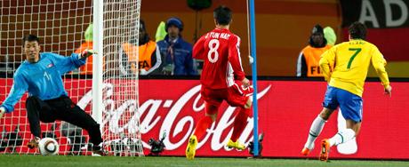 Veja imagens da vitória do Brasil na Copa