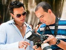 Saulo Roston fotografa para seu 1º CD e diz que já precisa sair disfarçado