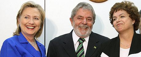Lula junta Hillary e Dilma em encontro