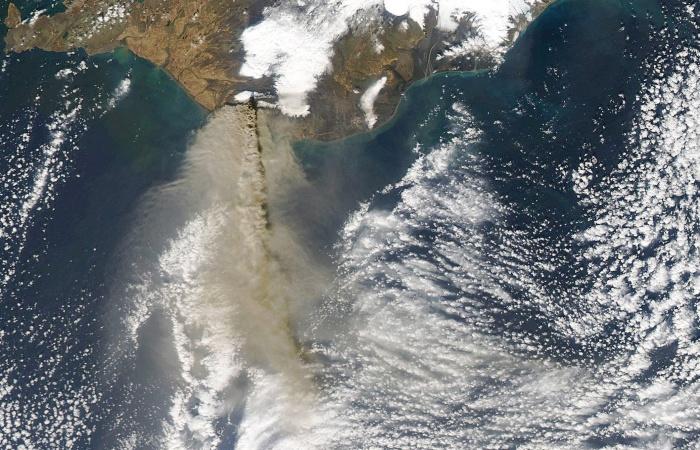 Satélite Vulcão Islândia G
